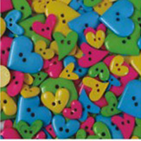 buttons bright hearts