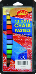 Dala 12 Soft Chalk Pastels 10mm x 65mm