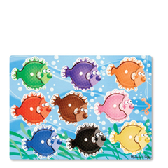 Peg Puzzle - Colourful Fish