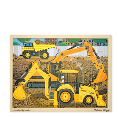 Wooden Jigsaw Puzzle - Construction - 24pc