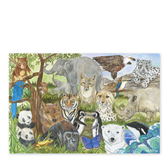 Floor Puzzle - Endangered Species - 48pc