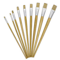 Brush Set 12 Assorted Hog - Flat