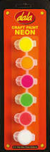 Dala Neon Craft Paint 6 x 5ml Blister Set
