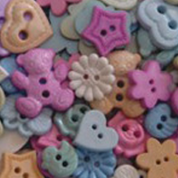 buttons pastel baby