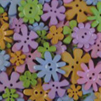 Buttons - Pastel Flowers