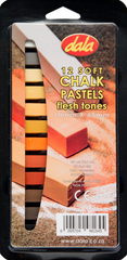 Dala 12 Soft Chalk Pastels - Flesh Tones 10mm x 65mm