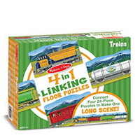 Linking Floor Puzzle - Trains - 96pc