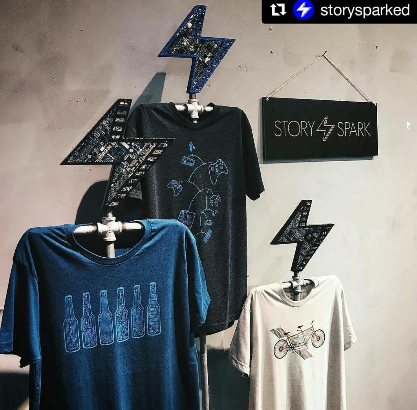 Story Spark Merchanding with TechWears Display Pieces