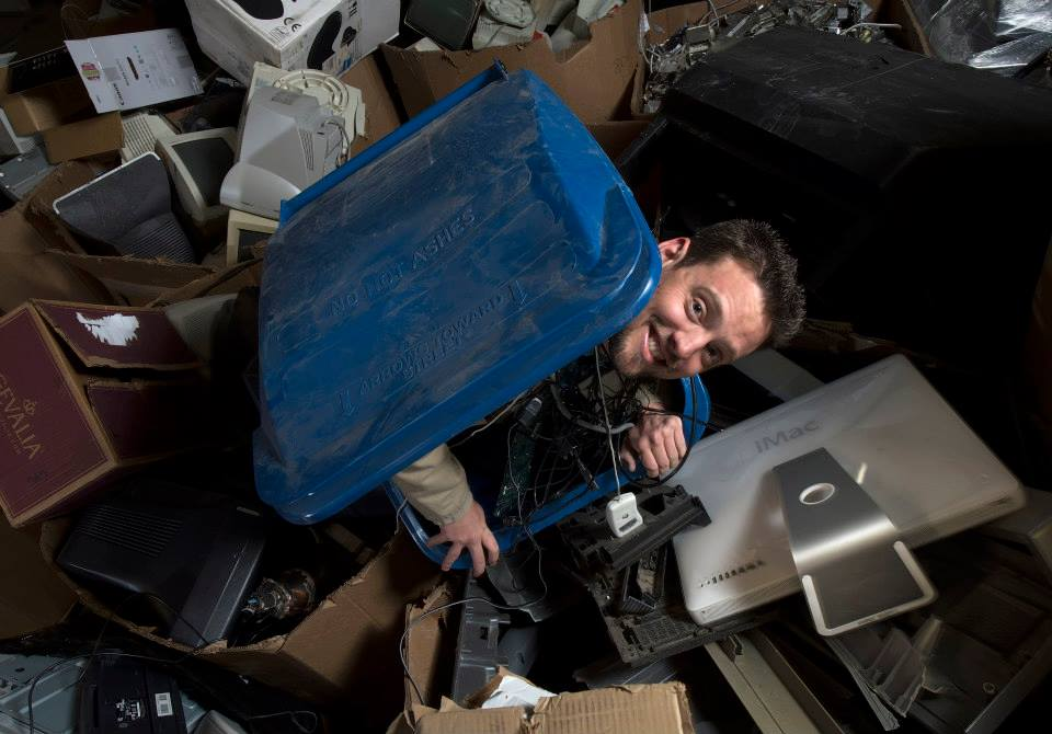 Junkman Drew was born in a recycle bin.