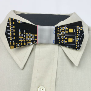 Black Circuit Board Bow Tie - REAL Circuit Board - 100% Recycled - by TechWears