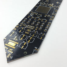 Black Circuit Board Necktie - REAL Circuit Board - 100% Recycled - by TechWears
