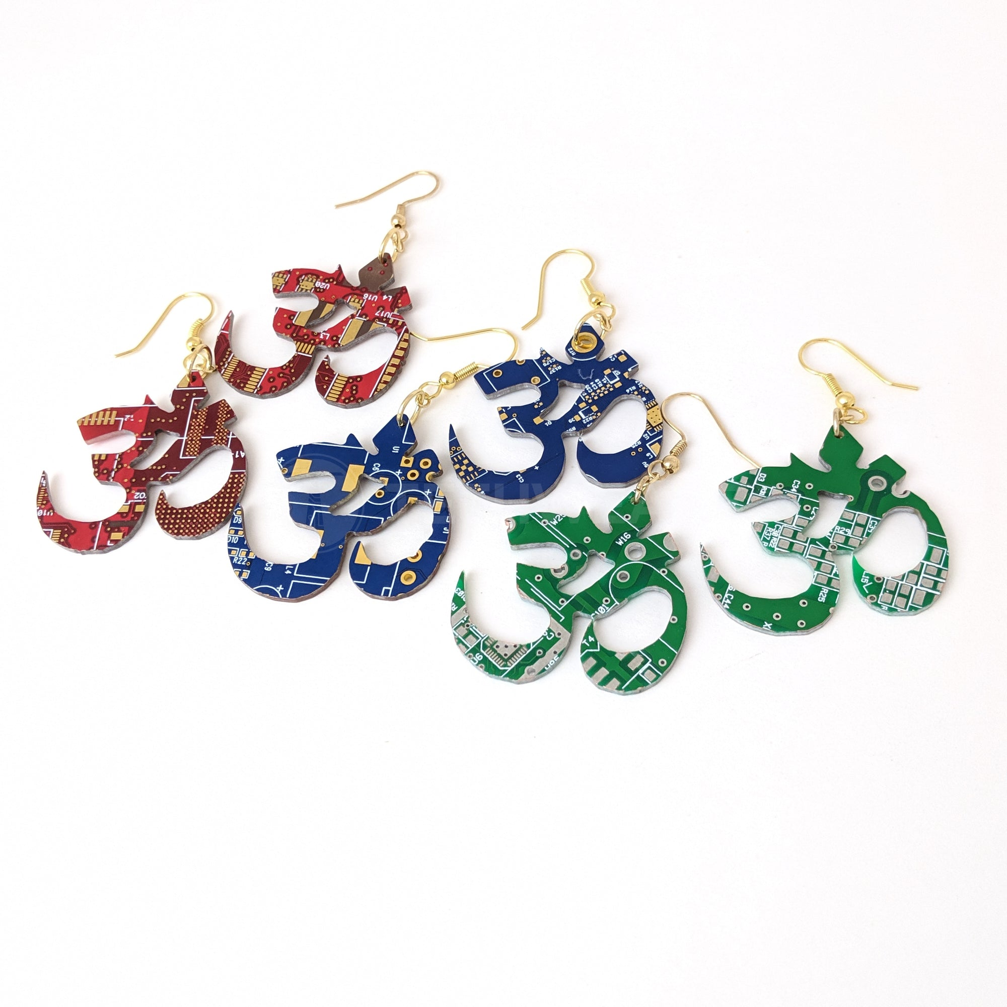 Circuit Board Ohm Earrings |3~Colors| - TechWears Ltd