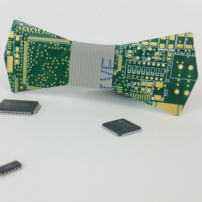 Green Circuit Board Bow Tie - REAL Circuit Board - 100% Recycled - by TechWears