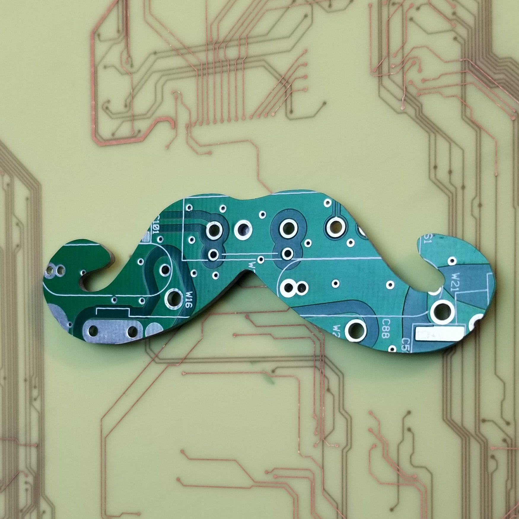 Circuit Board Mustache - TechWears Ltd