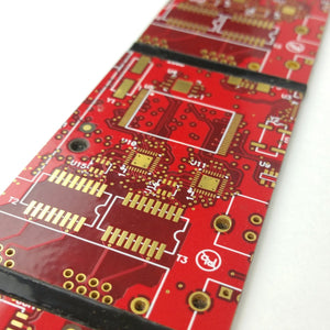 Red Circuit Board Power Tie - REAL Circuit Board - 100% Recycled - by TechWears
