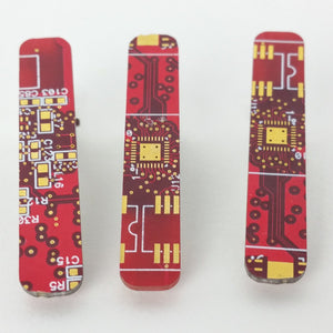 Red and Gold Circuit Board Tie Clip - REAL Circuit Board - 100% Recycled - by TechWears