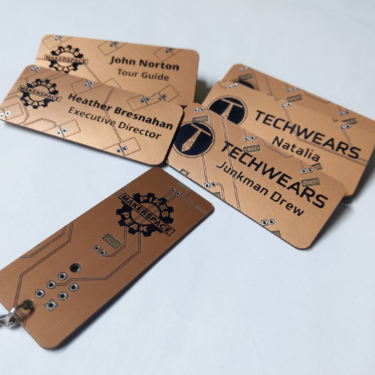 Circuit Board Name Tags - Laser Engraved