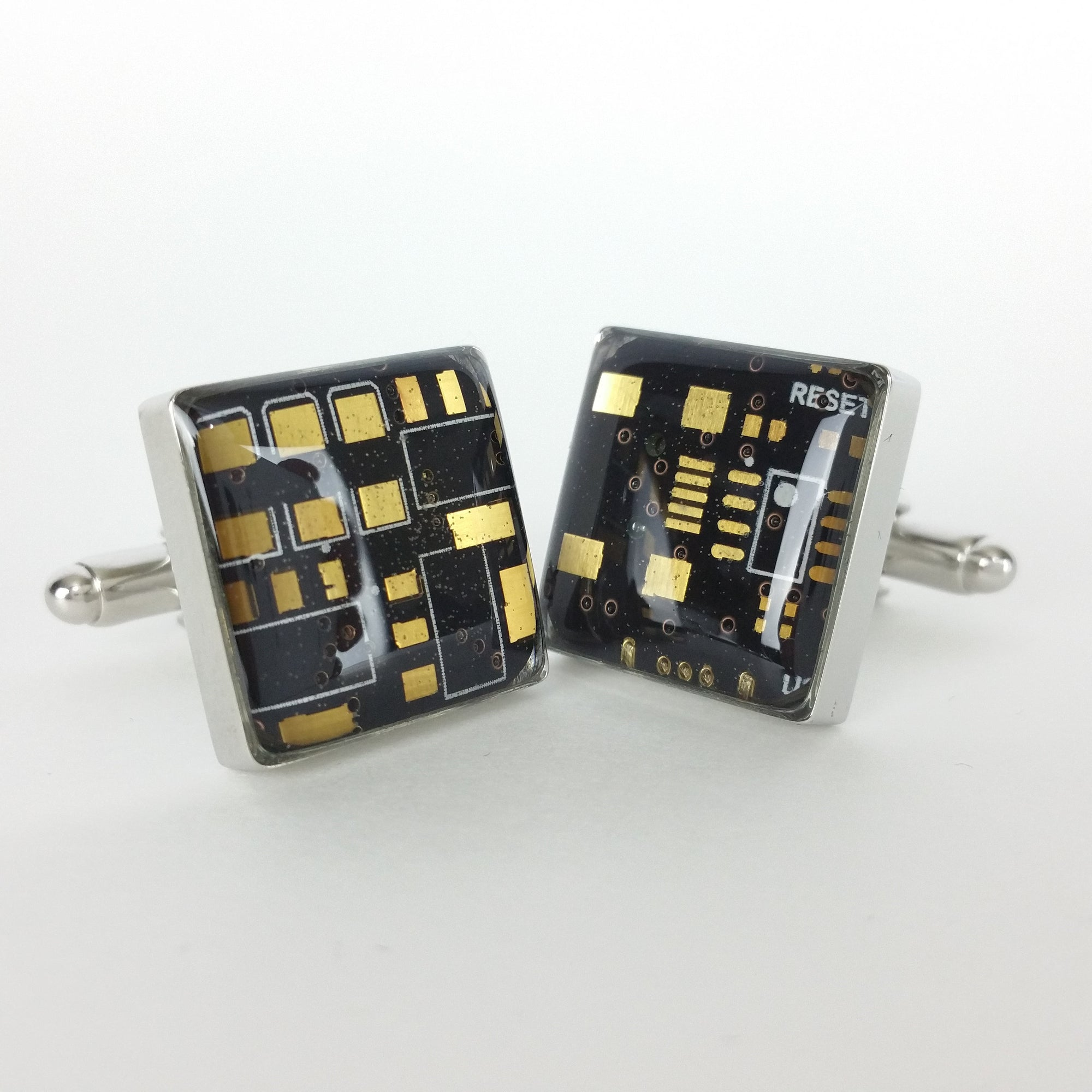 Circuit Board Black Circuit Board Cufflinks - TechWears Ltd