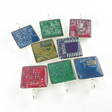Any Color Circuit Board Square Pendants - REAL Circuit Board - 100% Recycled - by TechWears
