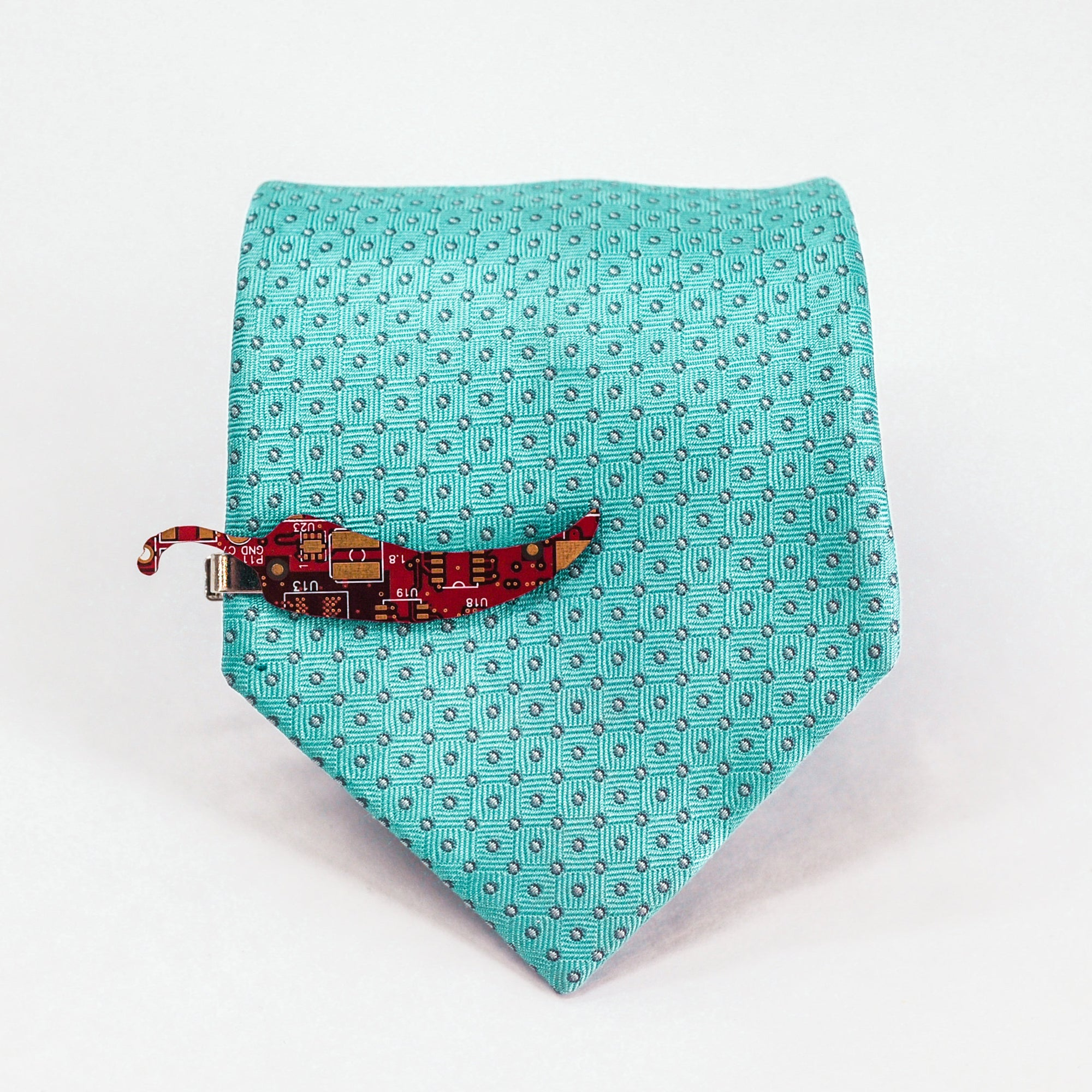 Circuit Board Chili Pepper Tie Clips - TechWears Ltd