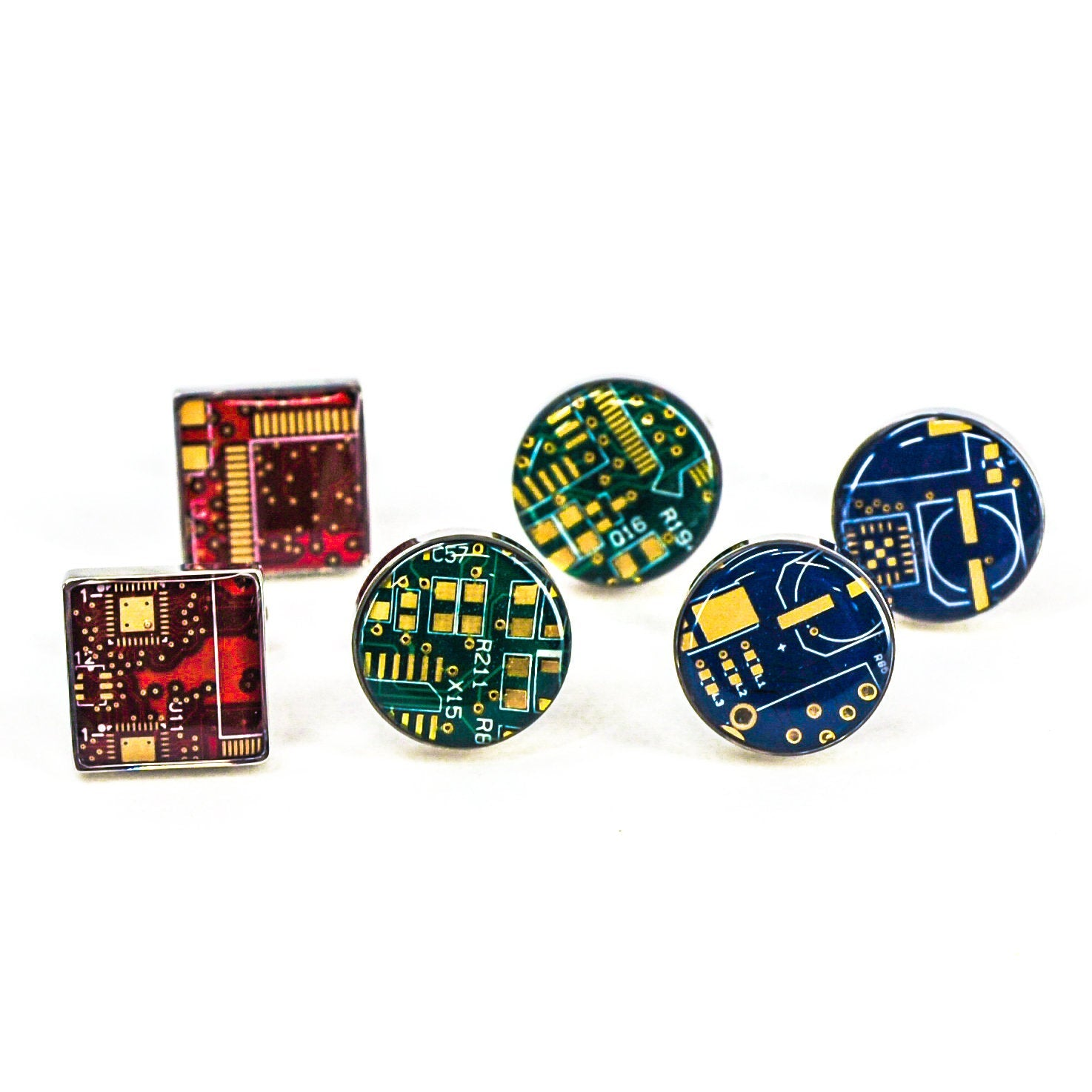 Circuit Board Classic Circuit Board Cufflinks |3~Colors| - TechWears Ltd