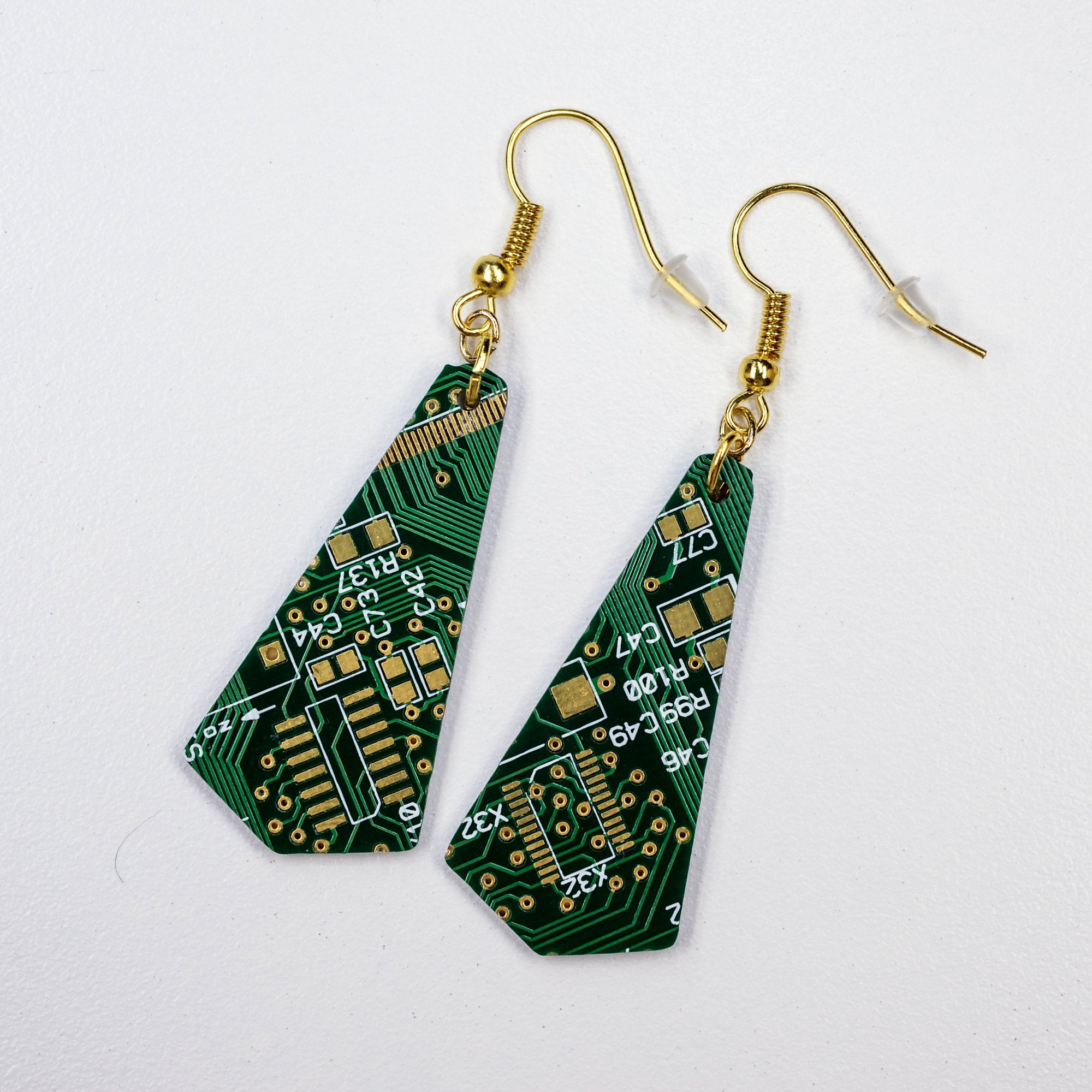 Flare Circuit Board Earrings |5~Colors| - TechWears Ltd