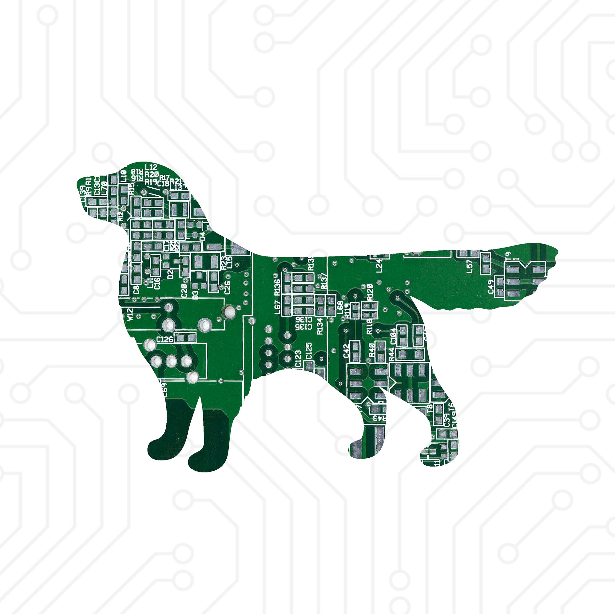 Circuit Board Golden Retriever - TechWears Ltd