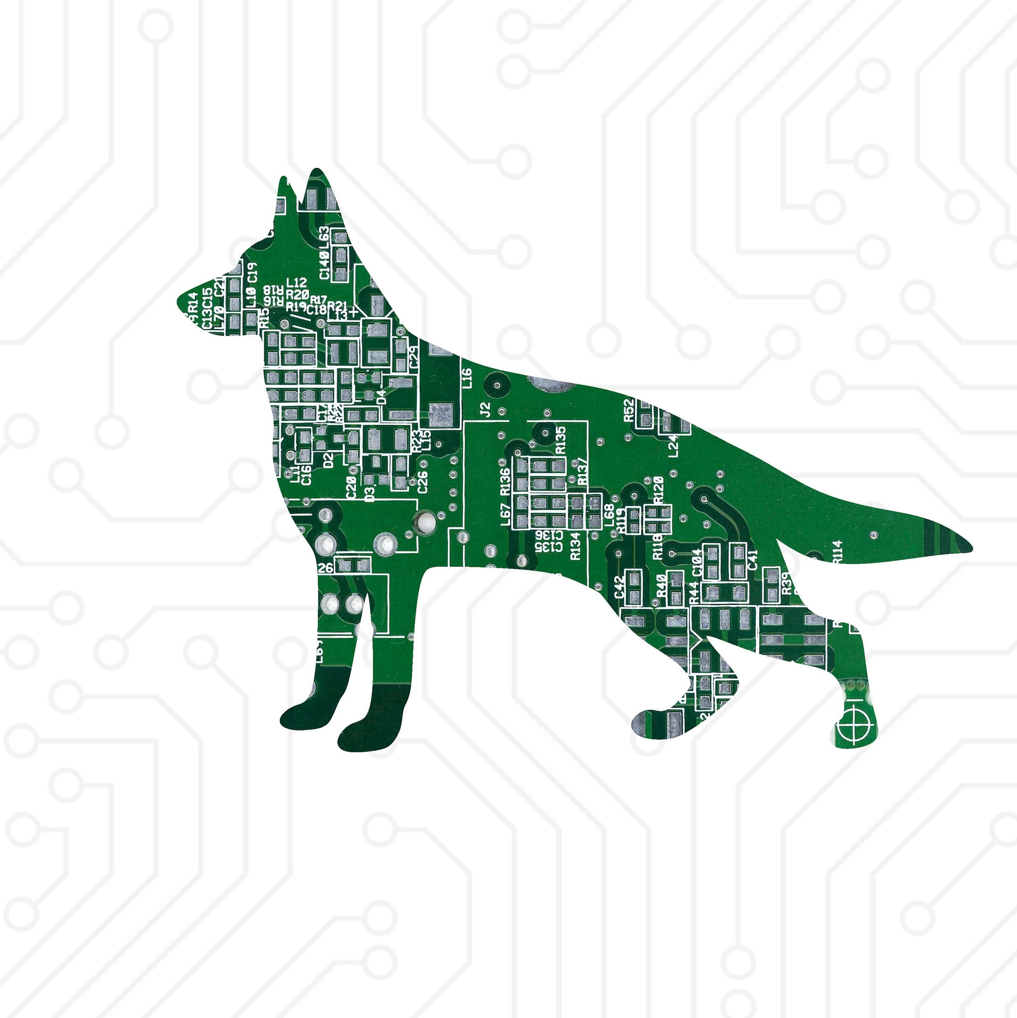 Circuit Board German Shepherd - TechWears Ltd