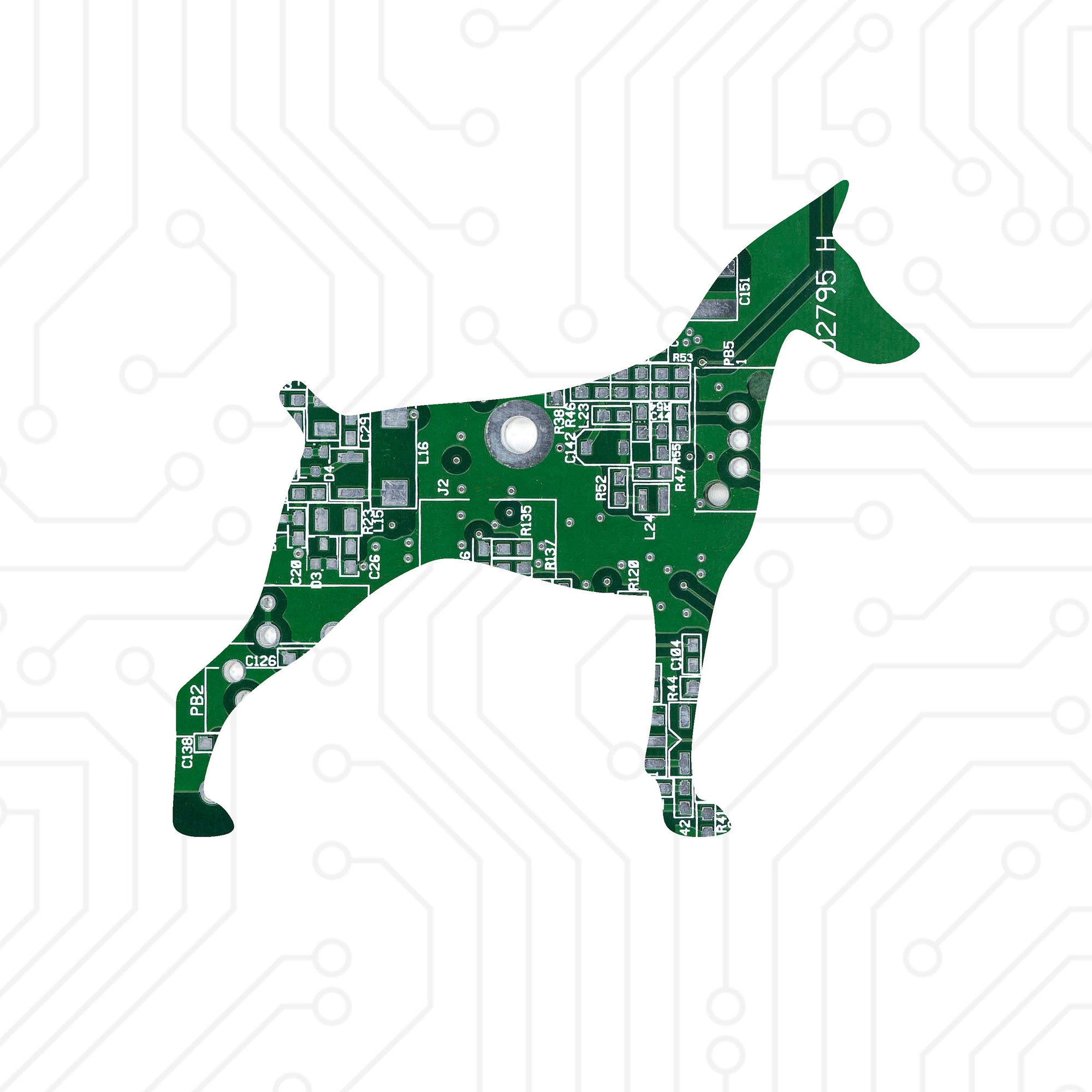 Circuit Board Doberman - TechWears Ltd