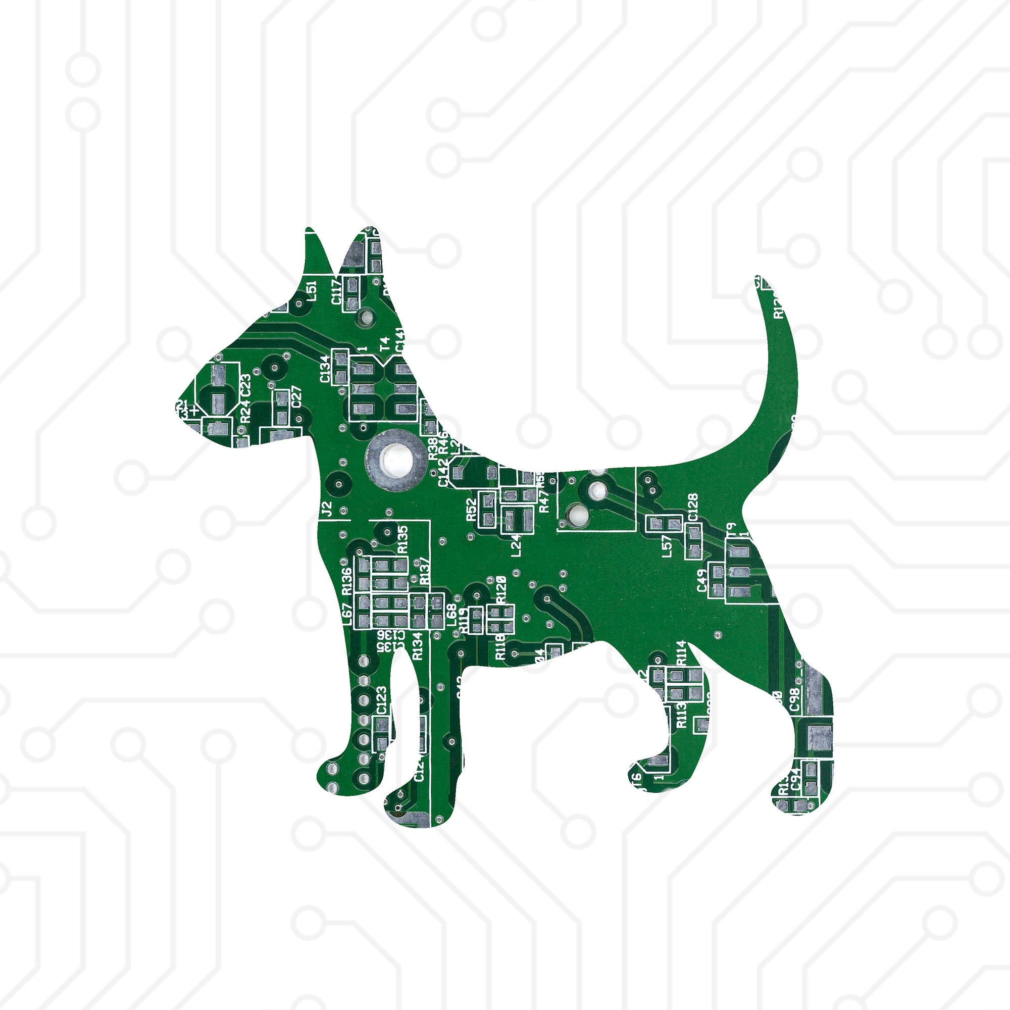 Circuit Board Bull Terrier - TechWears Ltd