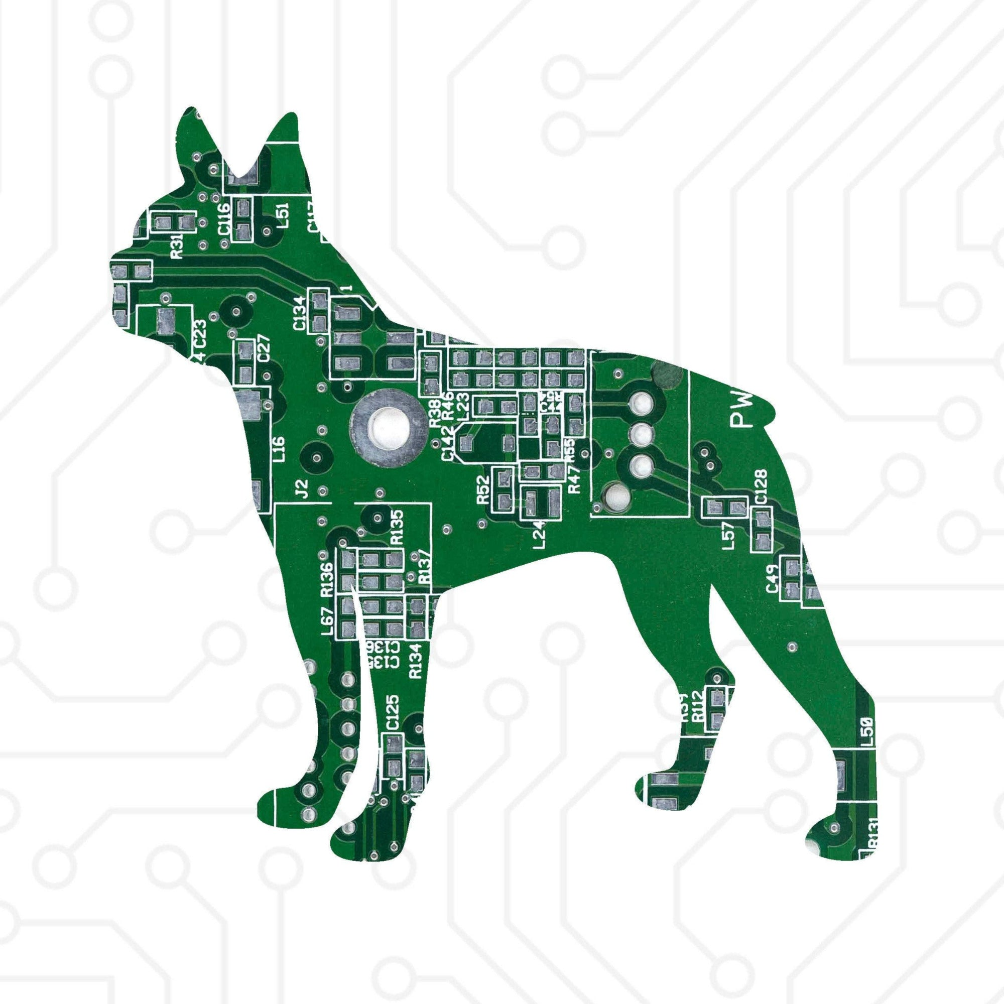 Circuit Board Boston Terrier - TechWears Ltd