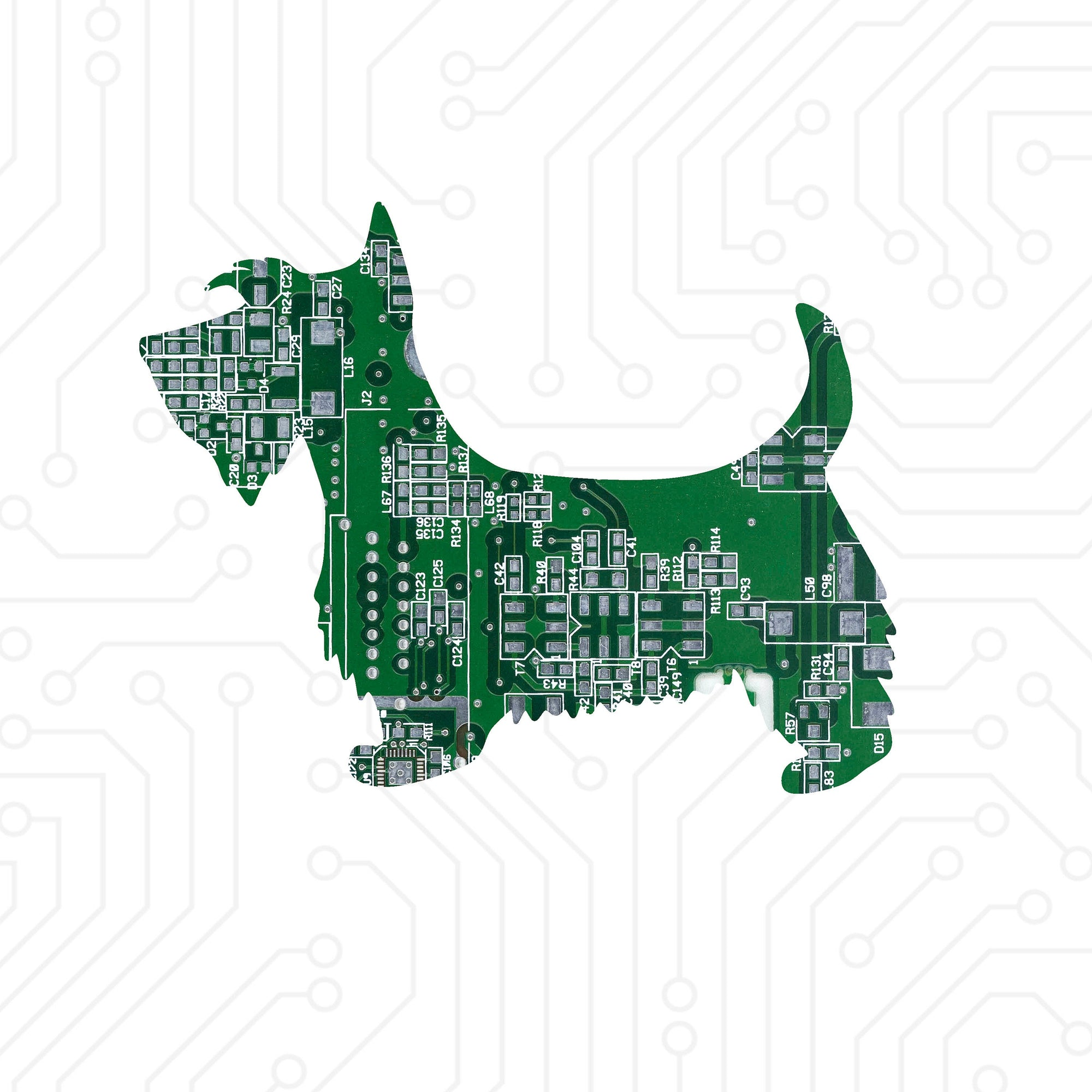 Circuit Board Scottie Dog - TechWears Ltd