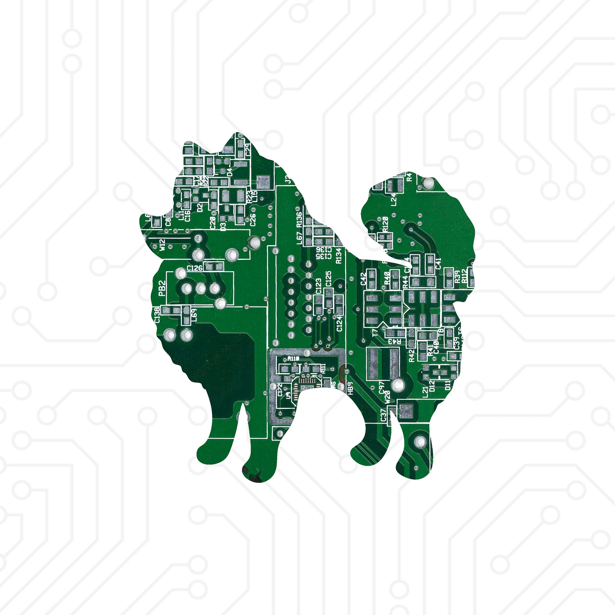 Circuit Board Pomeranian - TechWears Ltd