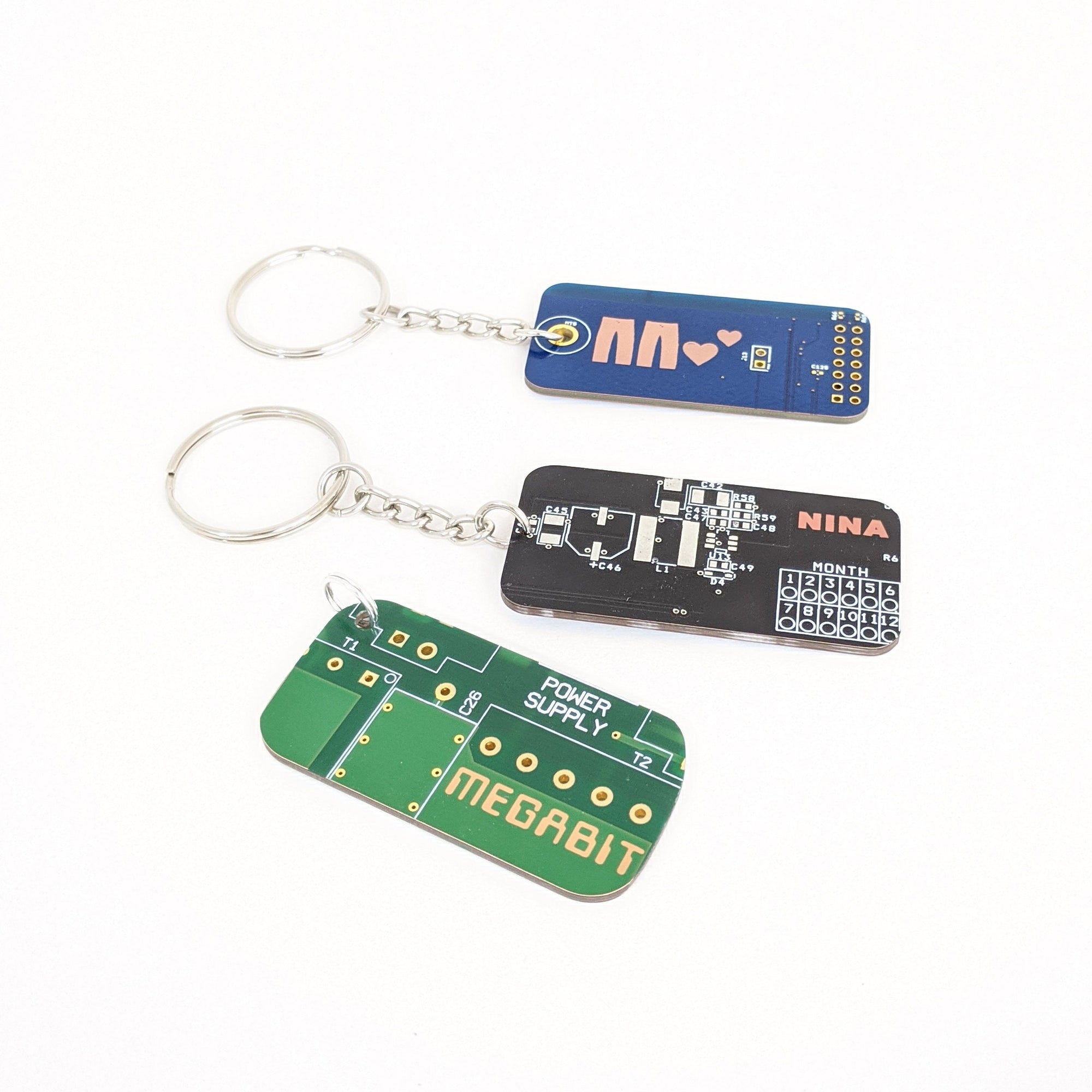 Circuit Board Laser Engraved Keychain - TechWears Ltd