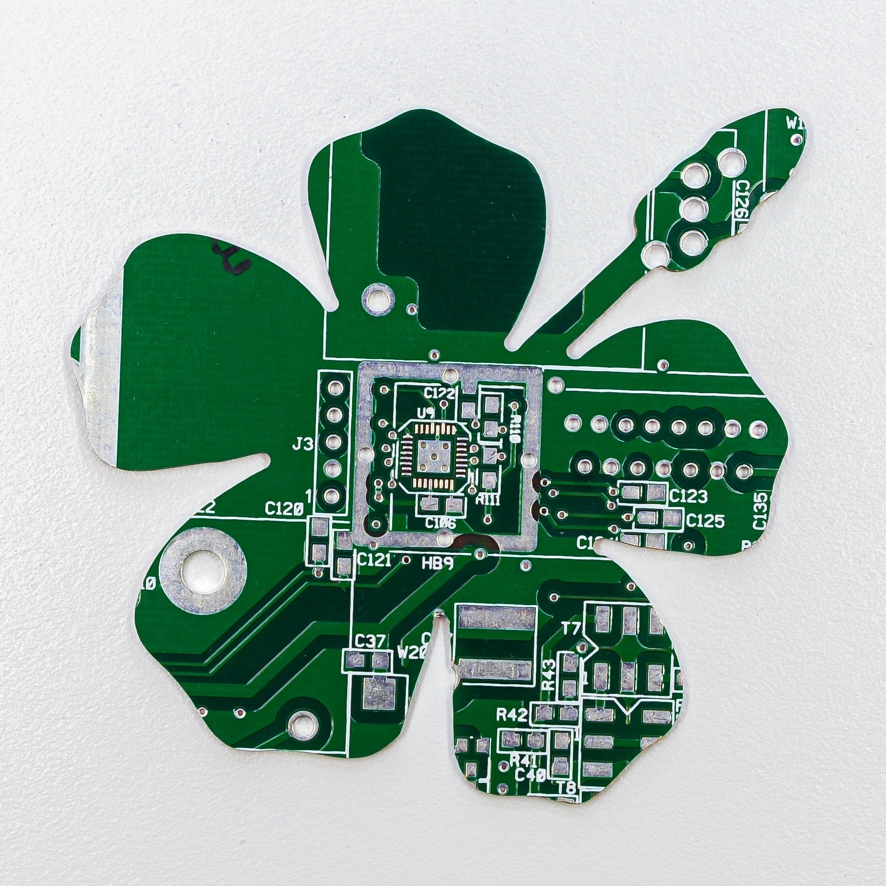 Circuit Board Hibiscus Flower - TechWears Ltd