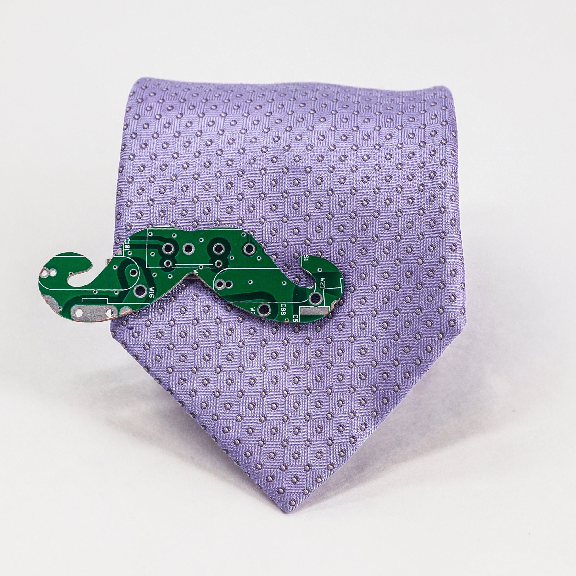 Circuit Board Mustache Tie Clip - TechWears Ltd