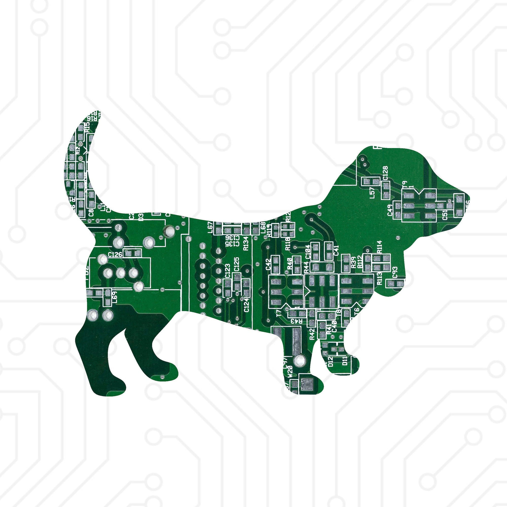 Circuit Board Basset Hound - TechWears Ltd