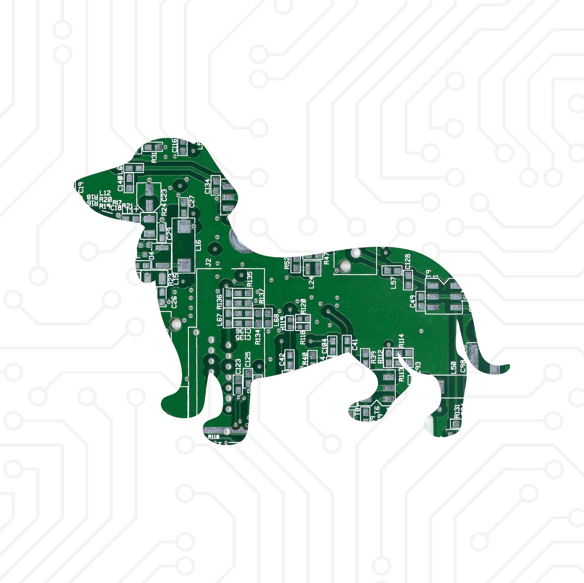 Circuit Board Dachshund (Wiener Dog) - TechWears Ltd