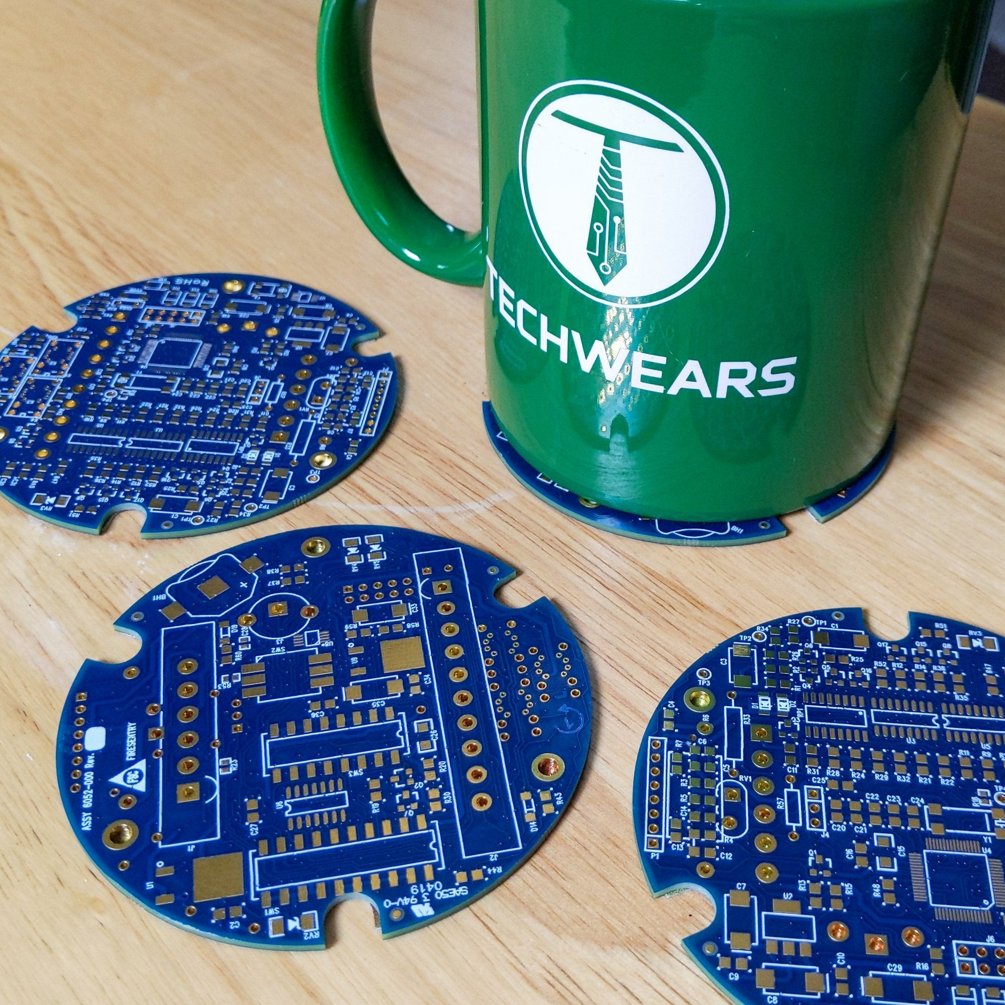 Circuit Board Blue Circuit Board Coaster Set (4) - TechWears Ltd