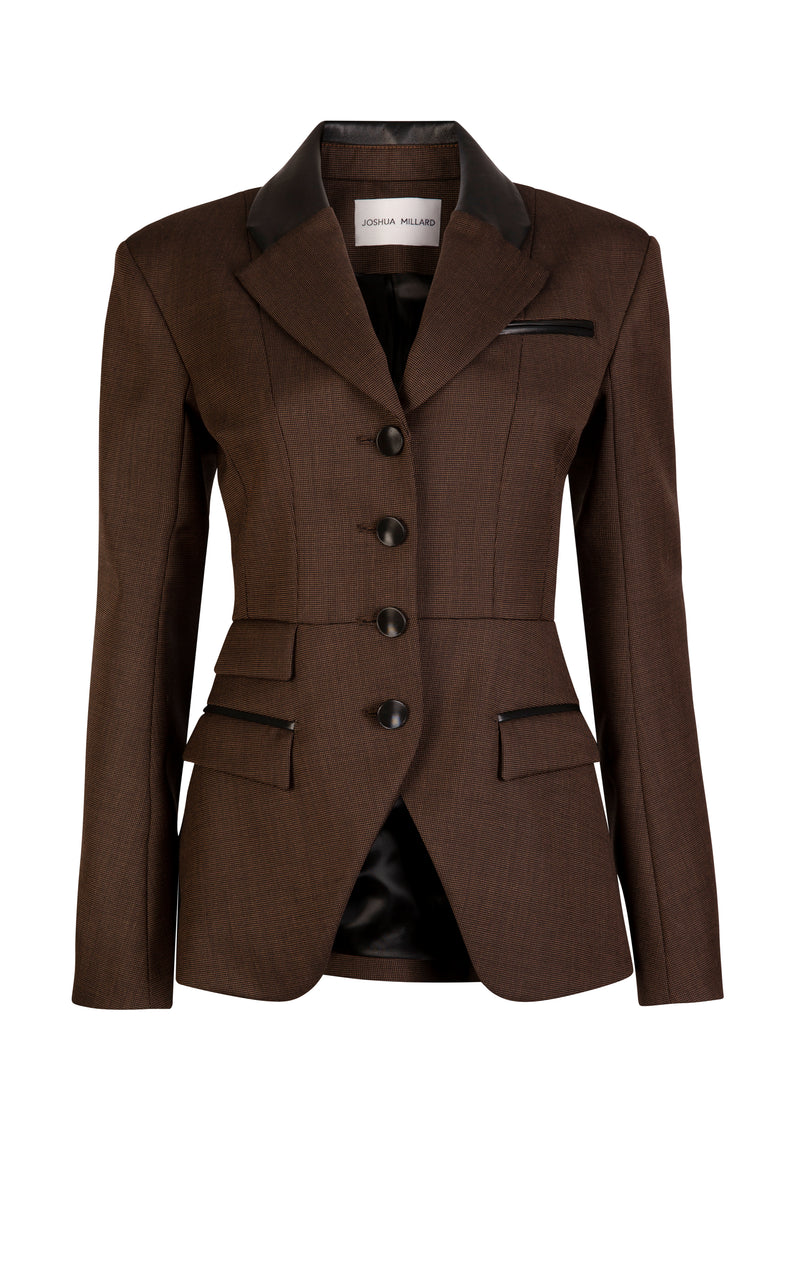 Copse Leather Trimmed Riding Jacket