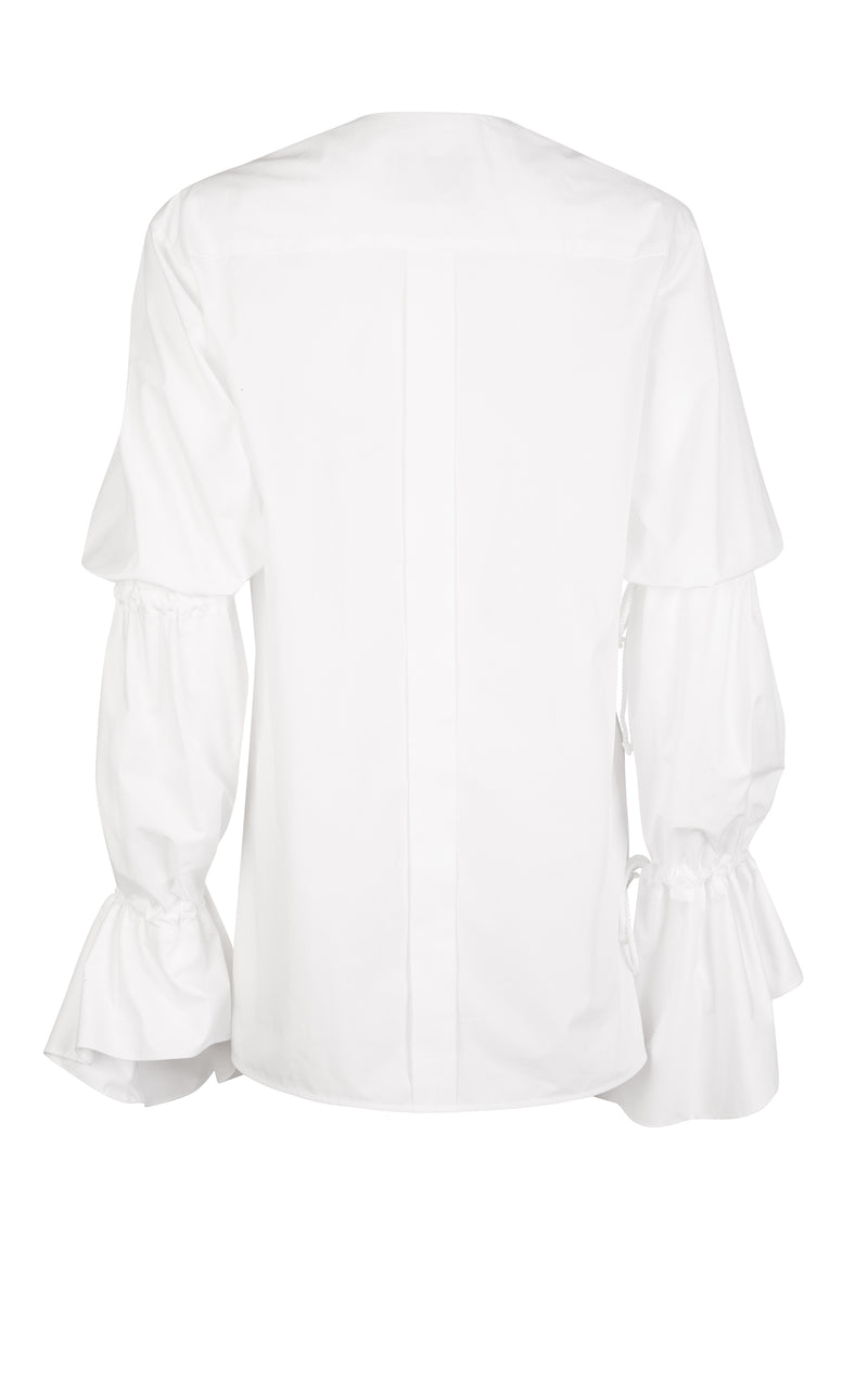 Charolais Ruched Organic Cotton Shirt