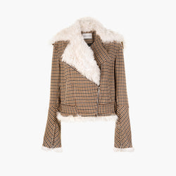 Awassi Tweed Biker Jacket