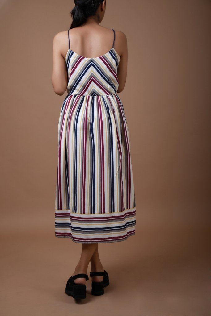 Multi Stripe Midi Dress