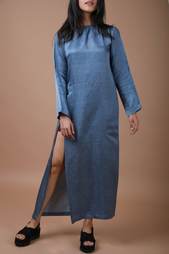 Dusty Blue Longline Top