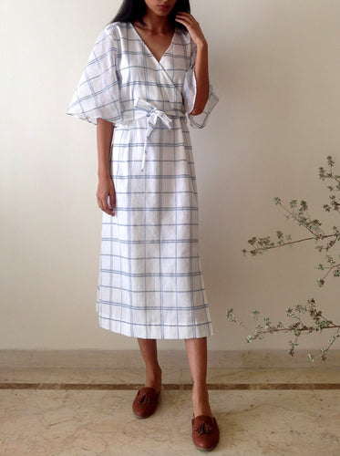 Ivy Dress in Checked Cotton