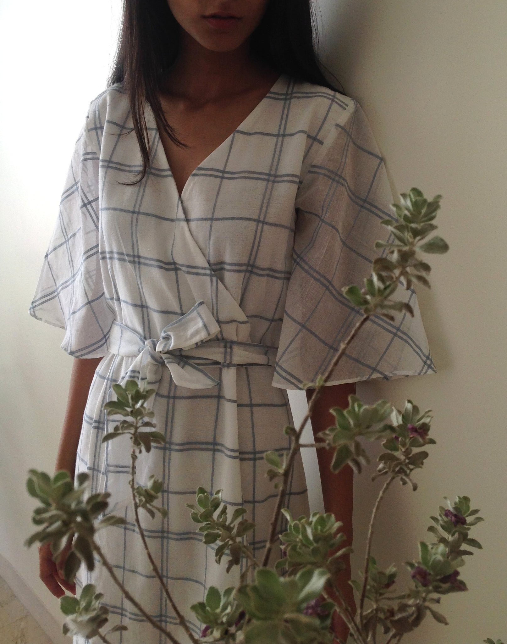 Increscent Ivy Dress in Checked Cotton