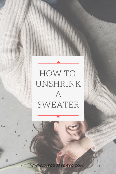 How to Unshrink A Wool Sweater