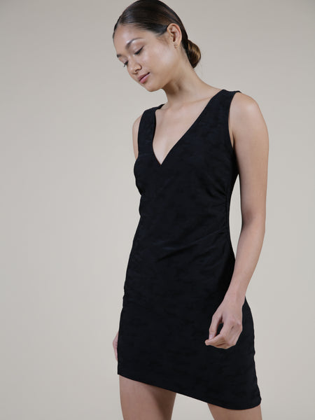 ruched tank dress on model