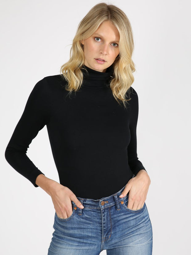 Black turtleneck bodysuit 7