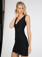 Ruched little black dress